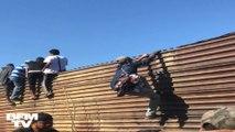 Coincés à la frontière entre le Mexique et les États-Unis, près de 500 migrants ont tenté de la franchir illégalement
