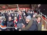 "Bournemouth 1-2 Arsenal   ""Aubameyang! Aubameyang ! Aubameyang!"" Gooners Takeover Vitality Stadium"