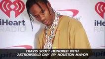 Travis Scott Gets Astroworld Day Award In Houston