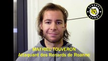 Hockey sur glace Interview Mathieu Touveron Attaquant des Renards Roannais