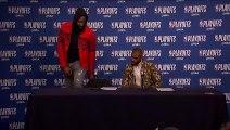 Harden & Chris Paul conference   Rockets vs Timberwolves Game 4   April 23, 2018   NBA Playoffs
