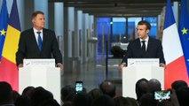 Déclaration conjointe du Président de la République, Emmanuel Macron, et Klaus Iohannis, Président de la Roumanie au Centre Georges Pompidou