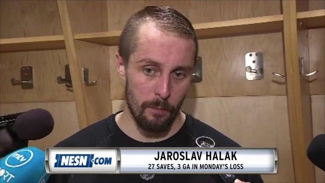 David Pastrnak, Jaroslav Halak react to Bruins' loss to Maple Leafs