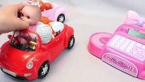 Jelly Soft Ice Cream Pudding Gummy DIY & Baby Doll Kinder Joy Surprise Eggs Cash Register Toys