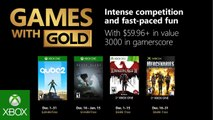 Xbox - Games with Gold Décembre 2018 Trailer