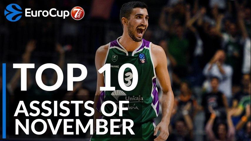7DAYS EuroCup, Top 10 Assists of November!