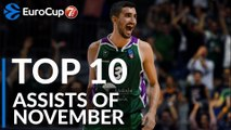 7DAYS EuroCup, Top 10 Assists of November!