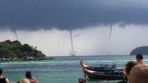 Quatre trombes marines filmées au large de la Thaïlande !