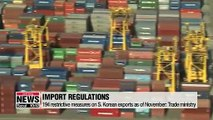 S. Korea to tackle increasing trade restrictions on its exports