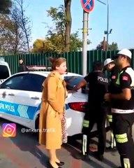 Ceza yazan trafik polisine çığlık atan öğretmen