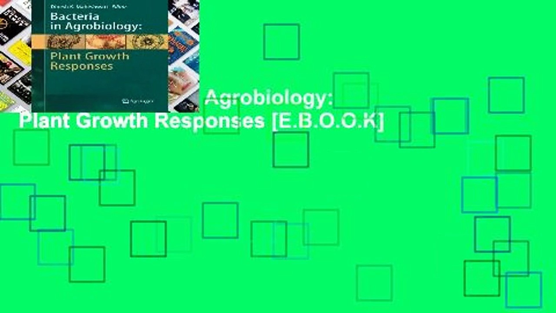 [P.D.F] Bacteria in Agrobiology: Plant Growth Responses [E.B.O.O.K]