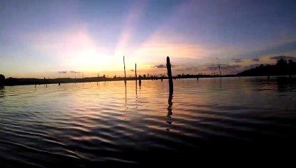Laos - Thakhek loop Thalang sunset fishing session