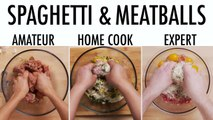4 Levels of Spaghetti & Meatballs: Amateur to Food Scientist