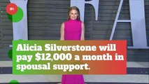 Alicia Silverstone Gets To Pay 12000 A Month In Support For Ex