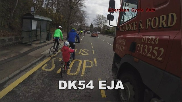 George Ford Transport DK54EJA - Extremely close pass by lorry - Queen's Street, Aberdeen