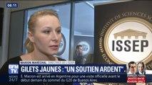 """Gilets jaunes: Marion Maréchal apporte """"un soutien ardent"""" au mouvement"""