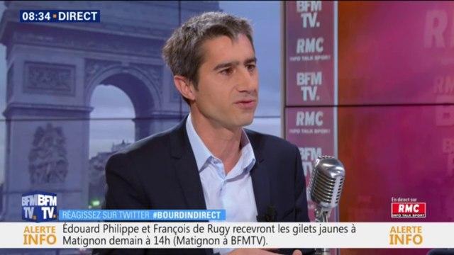 """Pour Ruffin, Mélenchon a """"le droit d'aller"""" sur les Champs-Élysées avec les gilets jaunes samedi"""