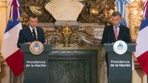 Conférence de presse conjointe d'Emmanuel Macron et de Mauricio Macri à la Casa Rosada