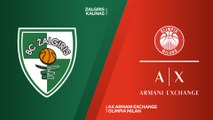 Zalgiris Kaunas - AX Armani Exchange Olimpia Milan Highlights | Turkish Airlines EuroLeague RS Round 10