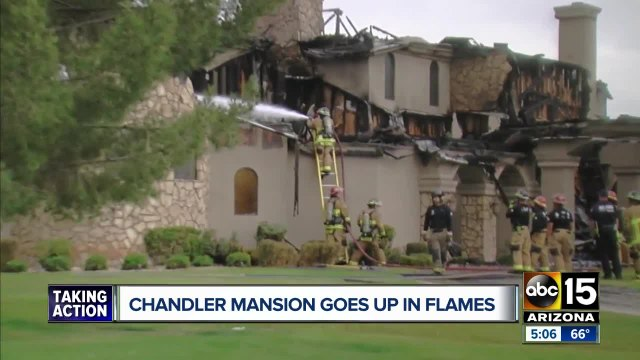 Massive Chandler home heavily damaged in fire