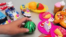 Toy Velcro Cutting Pizza Ice Cream Learn Fruits English Names Play Doh Surprise Eggs Toys