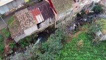 Rize'de dere yatağında olduğu için yıkılan binalar yerini yeşil alana bırakacak