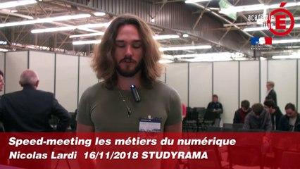 Speed-meeting métiers du numérique - Nicolas LARDI