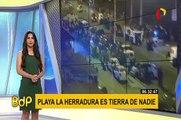 Piques ilegales: continúan realizando peligrosas carreras en playa La Herradura