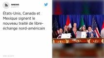 États-Unis, Canada et Mexique signent le nouveau traité de libre-échange nord-américain.