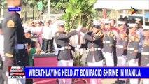 Wreathlaying held at Bonifacio shrine in Manila