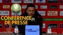 Conférence de presse Gazélec FC Ajaccio - Chamois Niortais (0-1) : Hervé DELLA MAGGIORE (GFCA) - Patrice LAIR (CNFC) - 2018/2019