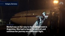 German plane flying Angela Merkel to G-20 suffers complete loss of communications