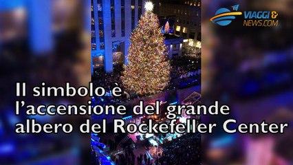 Natale a New York, lo spettacolo dell'albero del Rockefeller Center