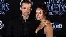 "Matt Damon and Luciana Barroso ""Mary Poppins Returns"" World Premiere Red Carpet"