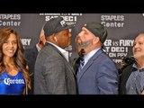 INTENSE!  Luis Ortiz vs.Travis Kauffman FACE OFF | Wilder vs. Fury Undercard