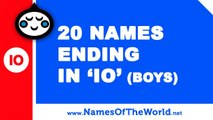 20 boy names ending in IO - the best baby names - www.namesoftheworld.net