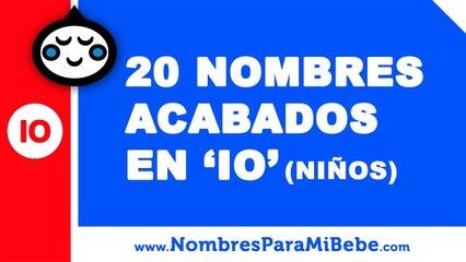 20 nombres para niños terminados en IO - los mejores nombres de bebé - www.nombresparamibebe.com