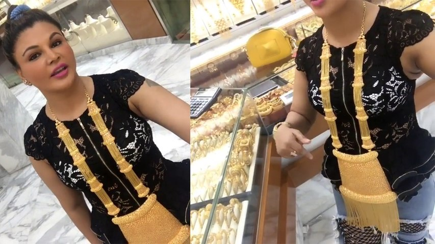 Rakhi Sawant buys Jewellery for her Marriage from Dubai; Watch video | Boldsky