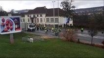 Lorraine Gilets jaunes Tensions à Frouard entre les gilets jaunes surveillés par les gendarmes