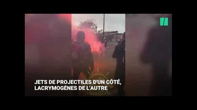Les frictions entre gilets jaunes et forces de l'ordre sur les Champs-Élysées