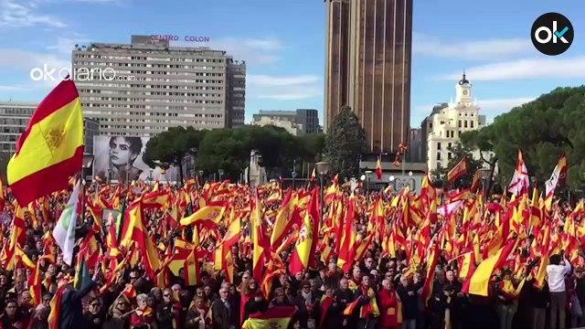 Manifestación en Madrid en defensa de las instituciones, la unidad de España y contra la impunidad de los golpistas
