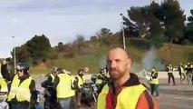 Gilets jaunes : 500 personnes réunies au péage Pont de l'Étoile, barrage filtrant