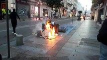 Des incendies allumés dans la rue de la République