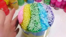 1000 Degree Ball VS Mix Slime All Colors Clay DIY Learn Colors Slime Water Balloons Surprise Toys