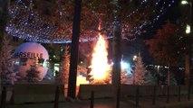 Vidéo - Marseille : un sapin de Noël en feu derrière le Vieux-Port