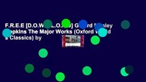 F.R.E.E [D.O.W.N.L.O.A.D] Gerard Manley Hopkins The Major Works (Oxford World s Classics) by