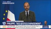 """""""Cette colère, il faudrait être sourd pour ne pas l'entendre."""" Édouard Philippe mesure répond aux gilets jaunes"""