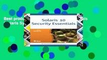 Best product  Solaris 10 Security Essentials (Solaris System Administration)