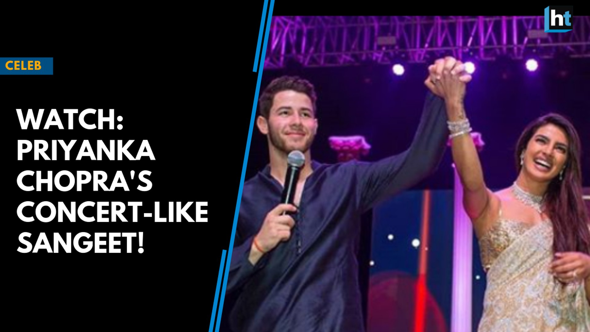 Watch: Priyanka Chopra and Nick Jonas' concert-like sangeet ceremony!