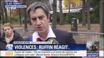 """""""Monsieur Macron doit partir avant de rendre notre pays fou. Fou de rage."""" François Ruffin s'exprime à côté de l'Élysée"""